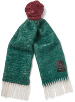 Loewe Colour-Block Wool and Mohair-Blend Scarf