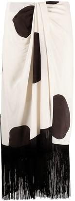 Erika Cavallini Polka Dot Print Wrap Skirt