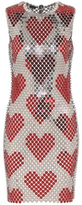 Paco Rabanne Printed sequin dress