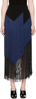Stella McCartney Black & Navy Veronica Fringe Skirt