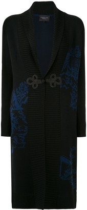 Shanghai Tang Chinoiseries intarsia long cardigan