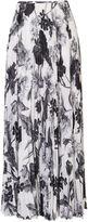 Karen Millen Floral-print Maxi Skirt - Black & White