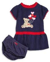 Hartstrings Baby's Two-Piece Teddy Bear Top & Bloomers Set