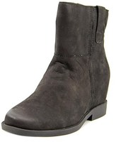 Kenneth Cole Reaction Lift Up Women Round Toe Leather Black Ankle Boot.