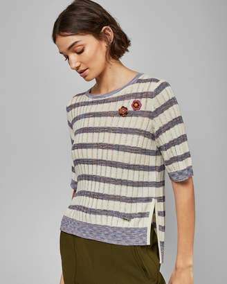 Ted Baker PILOSA Striped knitted top