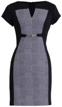 Connected Petite V-Neck Sheath Dress