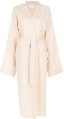Sleeper Belted Linen Robe