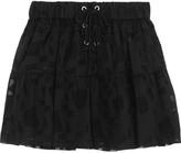 IRO Carmel Lace-up Chiffon And Tulle Mini Skirt - Black