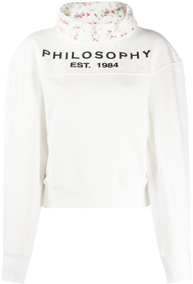 Philosophy di Lorenzo Serafini Logo Print High-Neck Sweatshirt