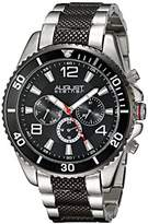 August Steiner Men's AS8119TTB Swiss Quartz Multifunction Black Dial Two-tone Bracelet Watch