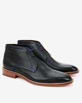 Ted Baker Classic Leather Derby Boots Black