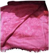 Louis Vuitton ChAle Monogram Pink Wool Scarves