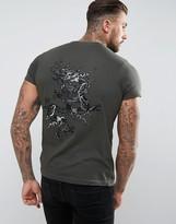 Brave Soul Back Embroidered Dragon T-Shirt