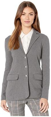 Lauren Ralph Lauren Sweater Knit Blazer (Lexington Grey Heather) Women's Jacket