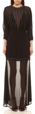 Colcci Midnight Embroidered Long Dress