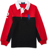 Ralph Lauren Colorblocked Rugby Shirt, Toddler Boys (2T-5T) & Little Boys (2-7)