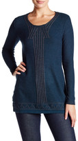 Max Studio Long Sleeve Stitched Sweater