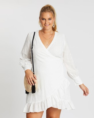 Mika Muse Marcelle Wrap Broderie Dress