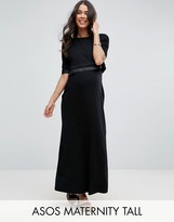 Asos Tall Nursing Double Layer Maxi Dress