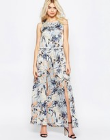 Girls On Film Floral Maxi Dress With Crochet Trim