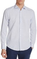 BOSS Luther Dash Pattern Regular Fit Button-Down Shirt