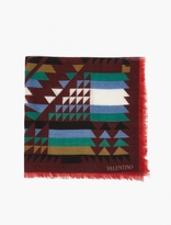 Valentino Cashmere and Silk-Blend Navajo Scarf