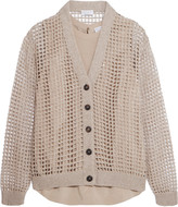 Brunello Cucinelli Sequined open knit cashmere cardigan