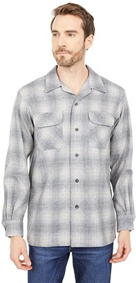 Pendleton Board Shirt Classic Fit (Grey Ombre Plaid) Men's Short Sleeve Button Up