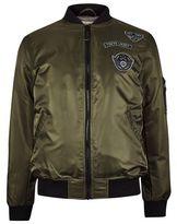 Burton Burton Tokyo Laundry Badged Khaki Bomber Jacket*