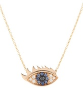 Delfina Delettrez Eyes On Me 18kt Rose Gold Necklace With Diamonds And Sapphires