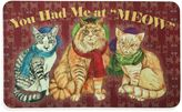"""Bacova 17.5-Inch x 29-Inch """"You Had Me at MEOW"""" Kitchen Mat in Burgundy"""