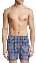 Derek Rose Barker 6 Check Boxer Shorts, Navy