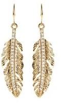 Amrita Singh Crystal Leaf Drop Earrings.