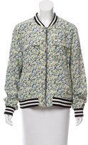 Equipment Silk Floral Print Jacket