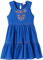 Nannette Toddler Girl Embroidered Tiered Dress
