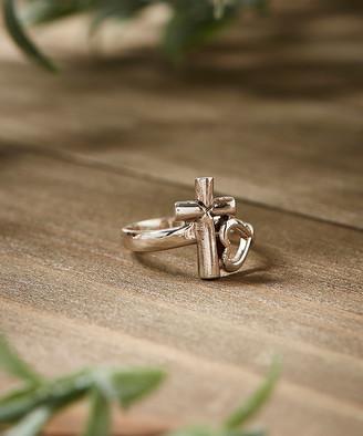 Silver Cross Mondevio Women's Rings - Sterling & Heart Ring