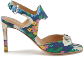 Carven Women's High Floral Sandals Multi