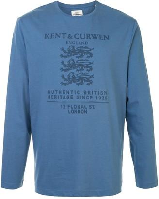 Kent & Curwen long-sleeved logo-print T-shirt