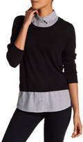 Susina Twofer Shirttail Sweater