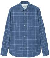 MANGO Men's Slim-fit check cotton shirt