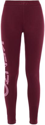 Kenzo Printed Stretch-cotton Jersey Leggings