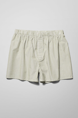 Weekday Kronos Woven Boxers - Green