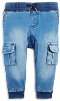 Bardot Junior Infant Boys' Knit Trimmed Denim Cargo Joggers - Sizes 12-24 Months
