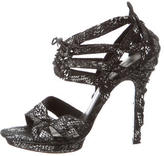 Elizabeth and James Suede Cage Sandals