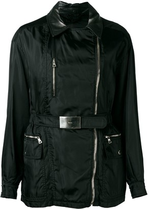 Prada Pre Owned Leather Collar Jacket