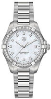 Tag Heuer Ladies Aquaracer Stainless Steel and Diamond Bracelet Watch