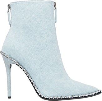 Alexander Wang Eri Studded Denim Ankle Boots