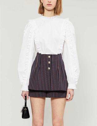 Maje Ielda trompe-lil-effect woven shorts