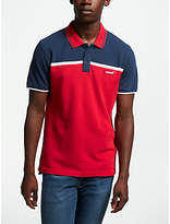 Levi's Colour Block Polo Shirt, Red/Blue