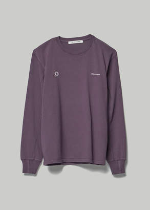 Alyx Men's Long Sleeve Print T-Shirt in Purple Size Small